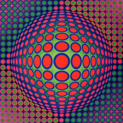 Victor Vasarely, plasticien hongrois